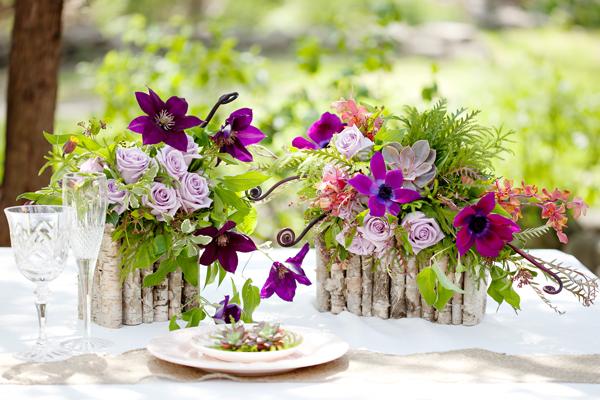Flores y m s flores arroz con leche for Centros de mesa con plantas naturales